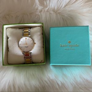 Kate Spade silver and gold watch.